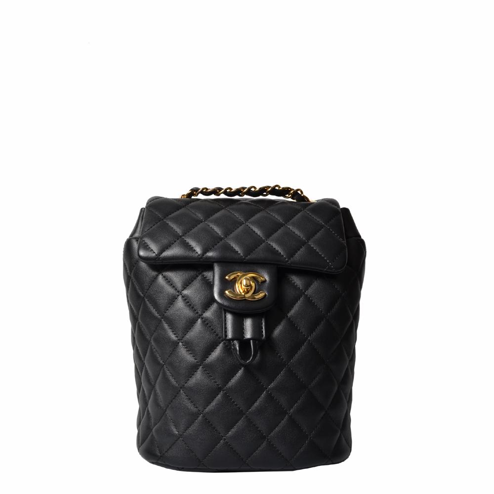 Chanel Rucksack Schwarz Nappaleder Gold 4.000 ( )