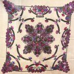 Hermes Cashmere Seide Silk Carre Vintage beige lilac