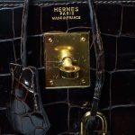Hermes Kelly Kroko braun gold ewa lagan secondhand frankfurt