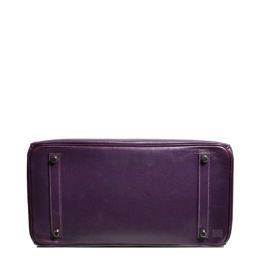 ebe44253fd18 ewa lagan - Hermès Birkin 35 Raisin Box Leather Palladium