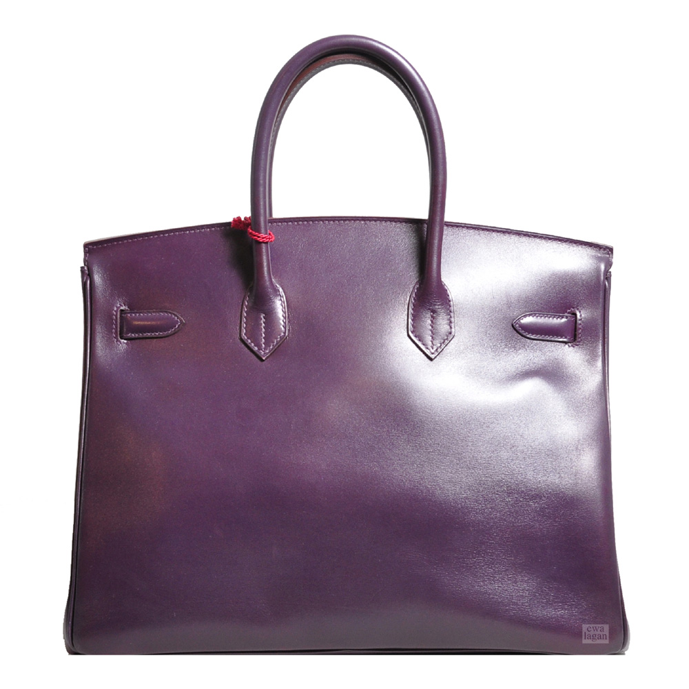 fc6dc2c10115 ewa lagan - Hermès Birkin 35 Raisin Box Leather Palladium