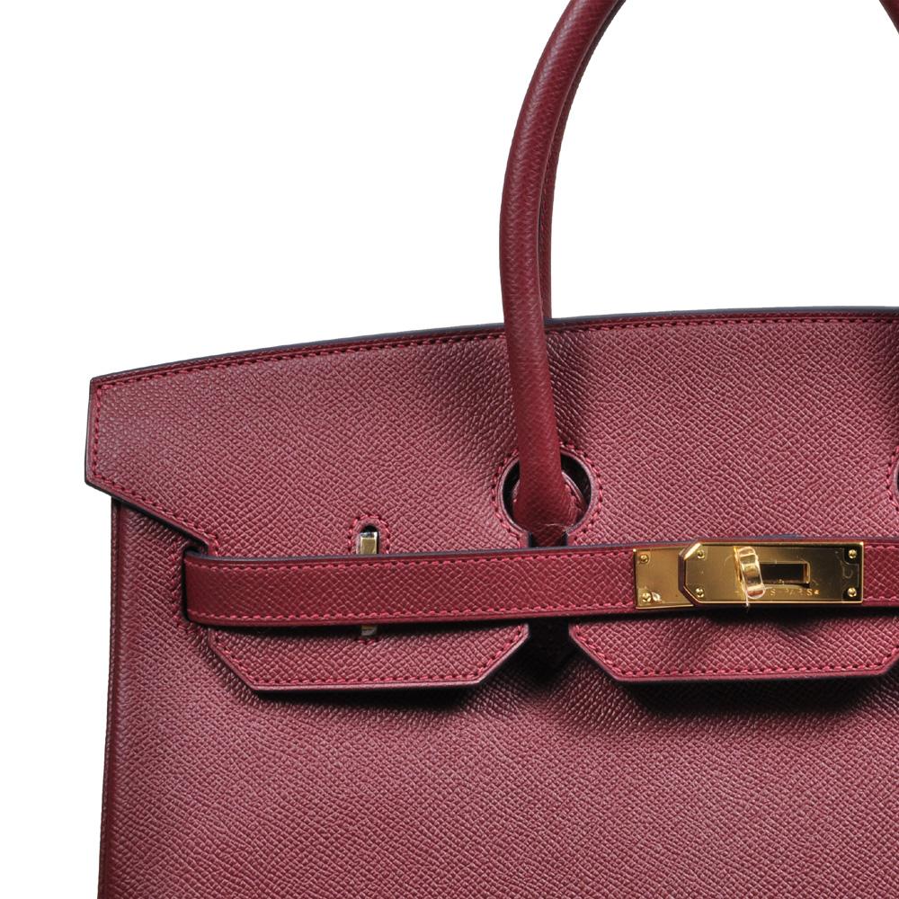 6d1cf9dddfa4 Hermès Birkin 35 Epsom rouge-h gold € Detailansicht Kopie