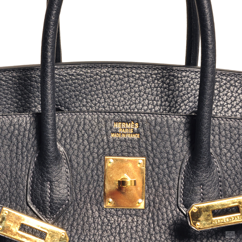 a9012a054fa4 ewa lagan - Hermès Birkin 35 Blue Nuit Fjord Leather Gold