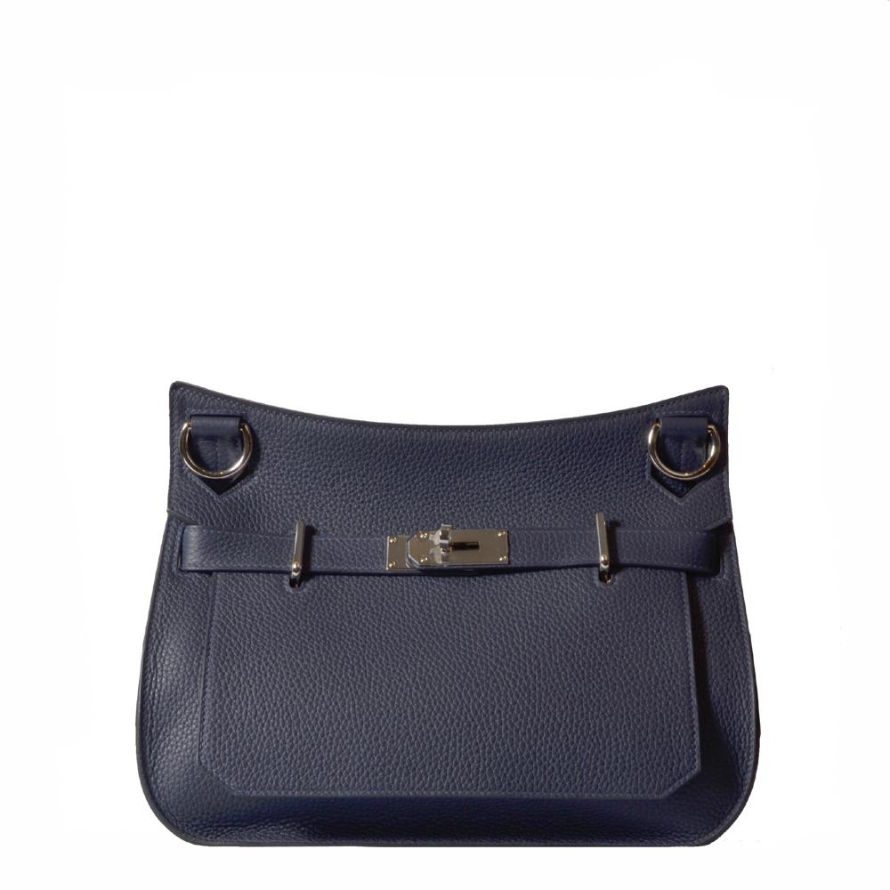 Hermes Jypsiere 31 Tasche Bag Messenger Togo Blue Nachtblau Nightblue PL Kopie