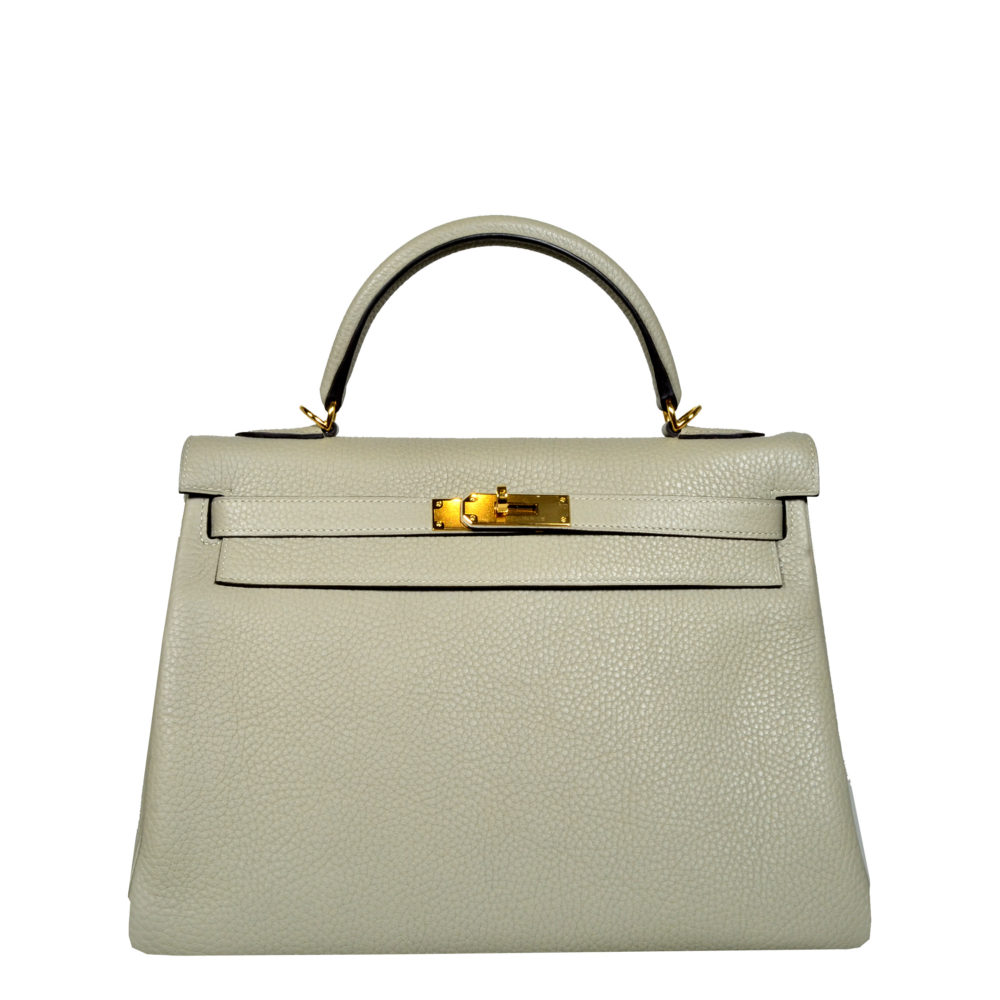 d090b5e701564 ewa lagan - Hermès Kelly Retourne 32 Sauge Clemence Leather Gold