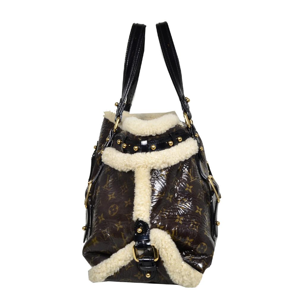 Limited Edition Louis Vuitton Fur Trim Tote Bag_1 Kopie