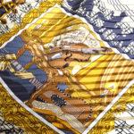 Hermes_carre_plissee_100%silk_salzburg_black_gold_1 Kopie
