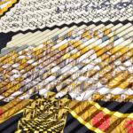 Hermes_carre_plissee_100%silk_salzburg_black_gold_3 Kopie