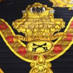 Hermes_carre_plissee_100%silk_salzburg_black_gold_4 Kopie