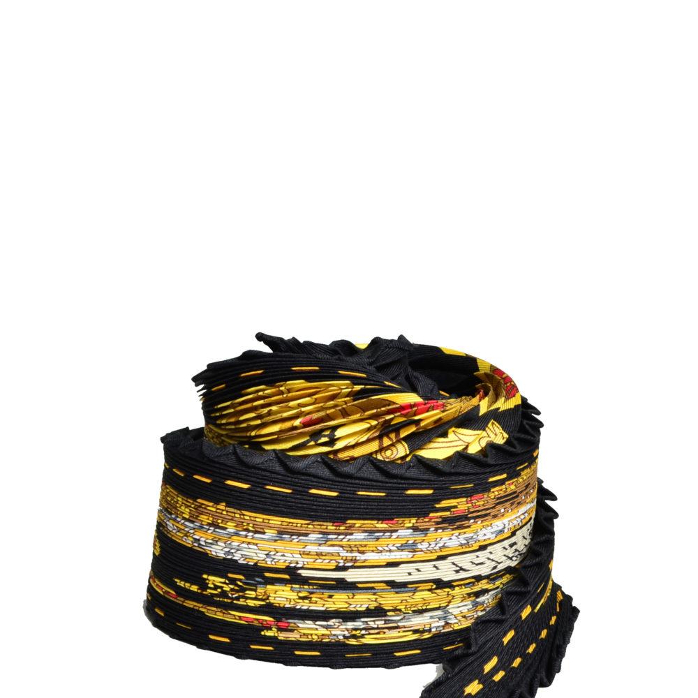 Hermes_carre_plissee_100%silk_salzburg_black_gold_7 Kopie