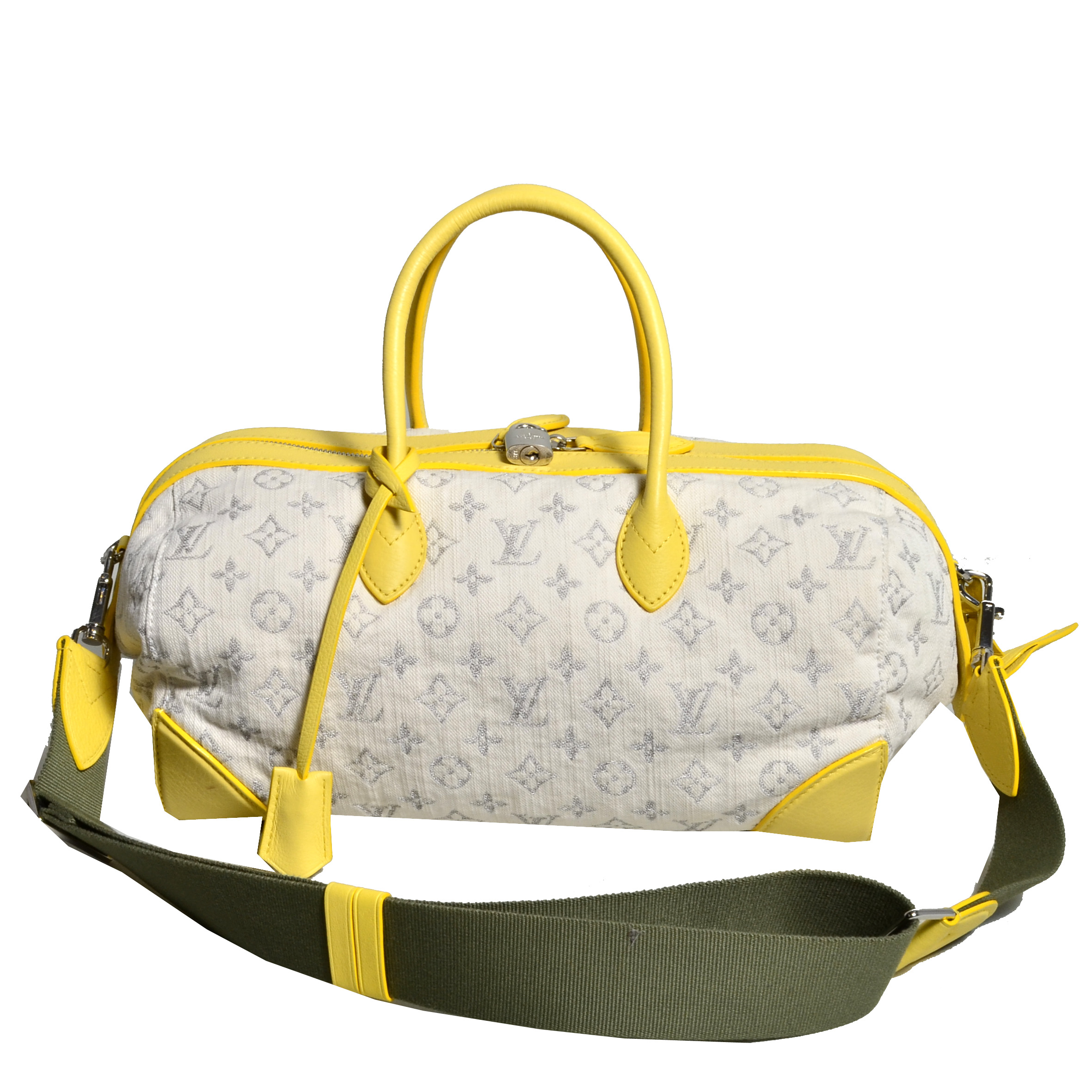 ef4c952835e3 Louis Vuitton Jaune Denim Mm Monogram Round Shoulder Bag8 Kopie