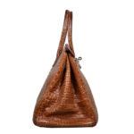Hermes Birkin 35 kroko lether brown 2 Kopie
