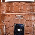 Hermes Birkin 35 kroko lether brown 5 Kopie