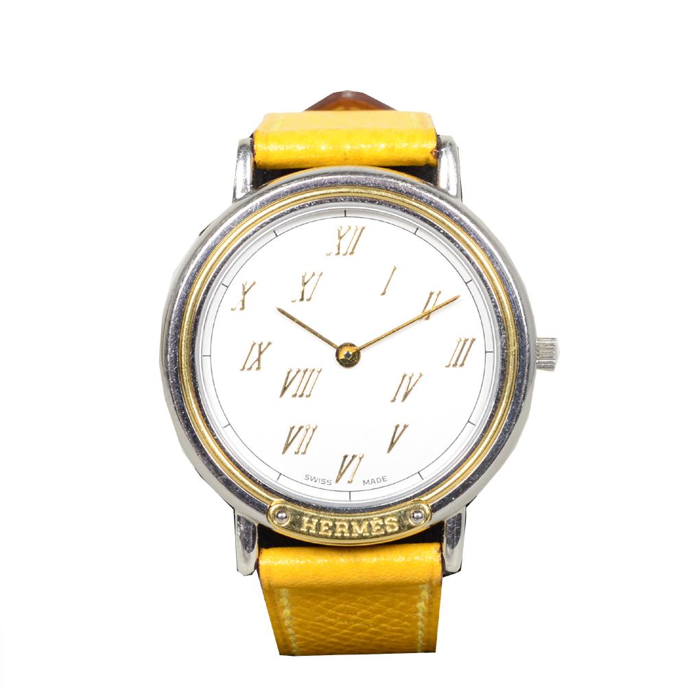 Hermes Meteore watch epsom yellow steel_2 Kopie