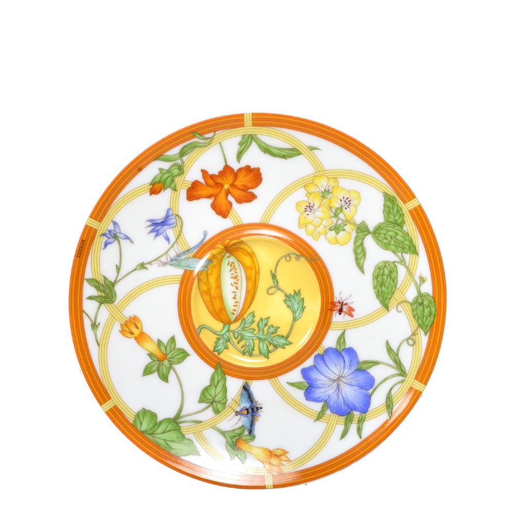 Hermes Tasse und Teller Parzelan Gelb Weiß mit blauen und orangen Blümen 8 Kopie  sc 1 st  ewa lagan & ewa lagan - hermes breakfast cup and saucer porcelain la siesta