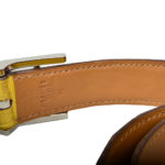 Hermes hapi belt size 80 alligator yellow palladium_1 Kopie