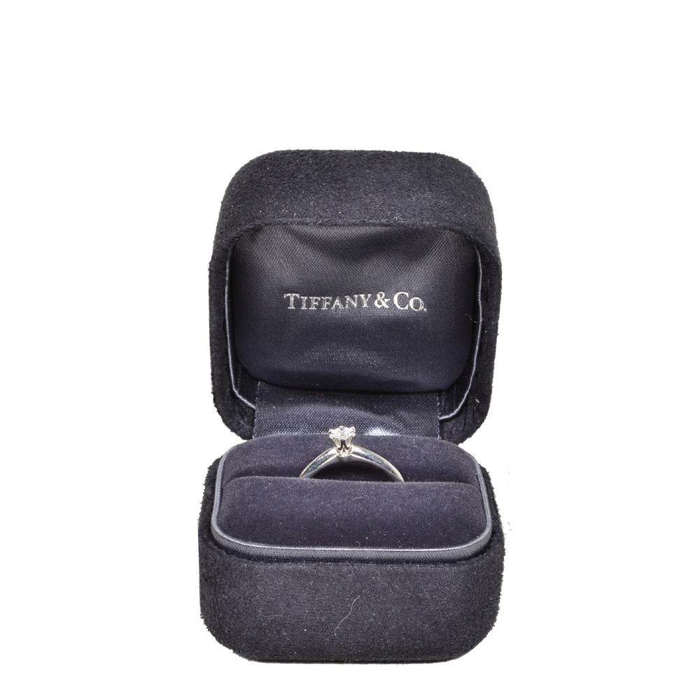 Tiffany & Co Ring Verlobungs Silber mit schtein 2 Kopie