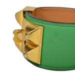hermes collier de chien bracelet swift bamboo gold L_1 Kopie