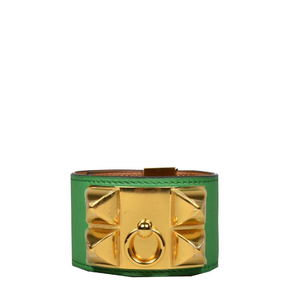 hermes collier de chien bracelet swift bamboo gold L_7 Kopie