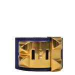 hermes collier de chien bracelet swift blue gold L_1 Kopie