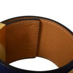 hermes collier de chien bracelet swift blue gold L_3 Kopie