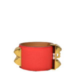 hermes collier de chien bracelet swift rouge gold L_1 Kopie