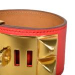hermes collier de chien bracelet swift rouge gold L_4