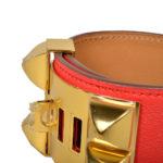 hermes collier de chien bracelet swift rouge gold L_5 Kopie