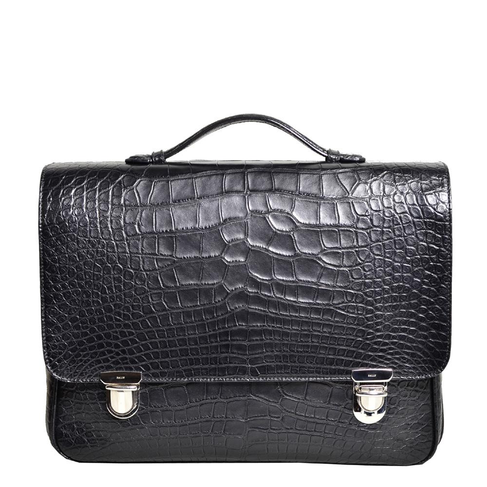 Bally_briefcase_alligator_black_silver_1 Kopie