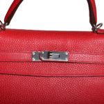 Hermes Kelly 32 Retourne Clemence Rouge Casaque Palladium _5 Kopie