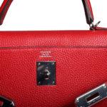 Hermes Kelly 32 Retourne Clemence Rouge Casaque Palladium _8 Kopie