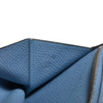 Hermes geldbeutel hellblau epsom leder 7