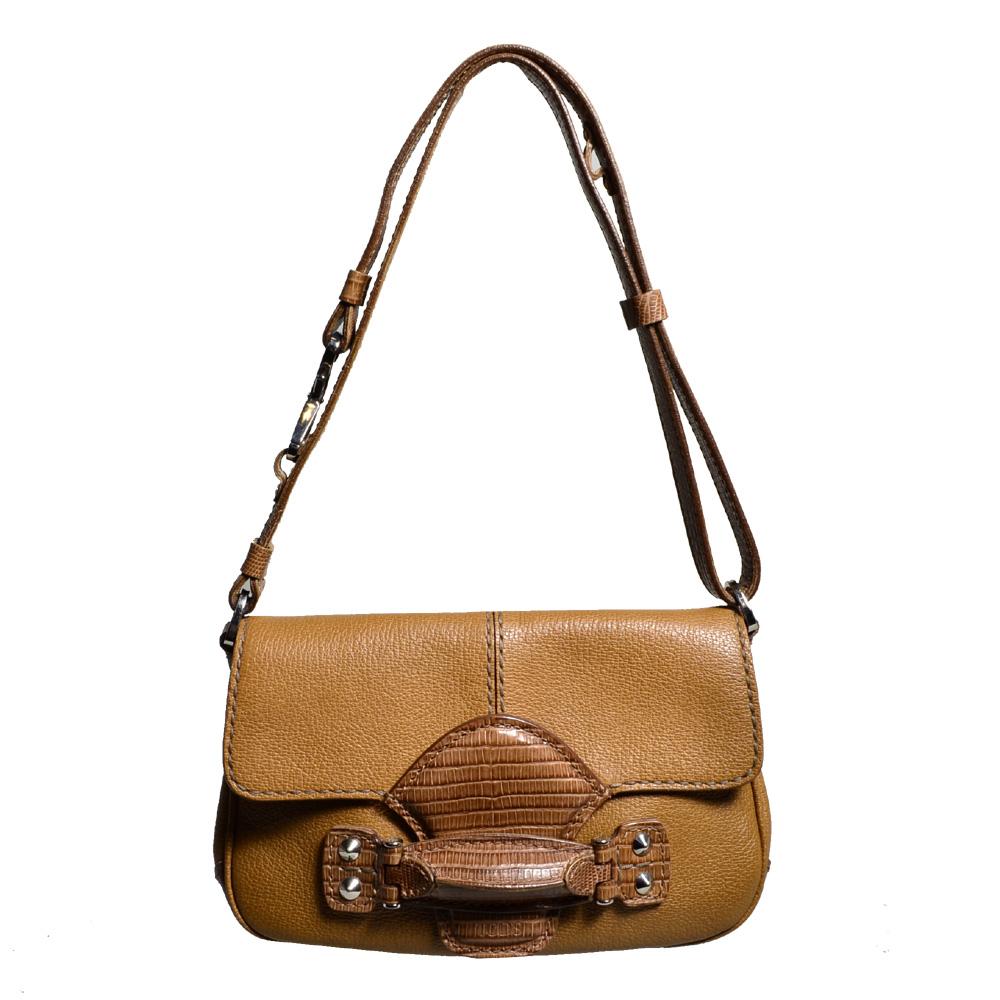 ewa lagan - Tods shoulder bag leather alligator cognac 897c71633dd4e