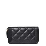 Chanel boy wallet mini zipper Caviarleather black silver _4 Kopie
