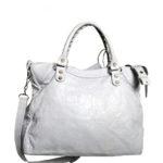 balensiaga classic schoulder bag light grey leather 1 Kopie