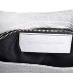 balensiaga classic schoulder bag light grey leather 6