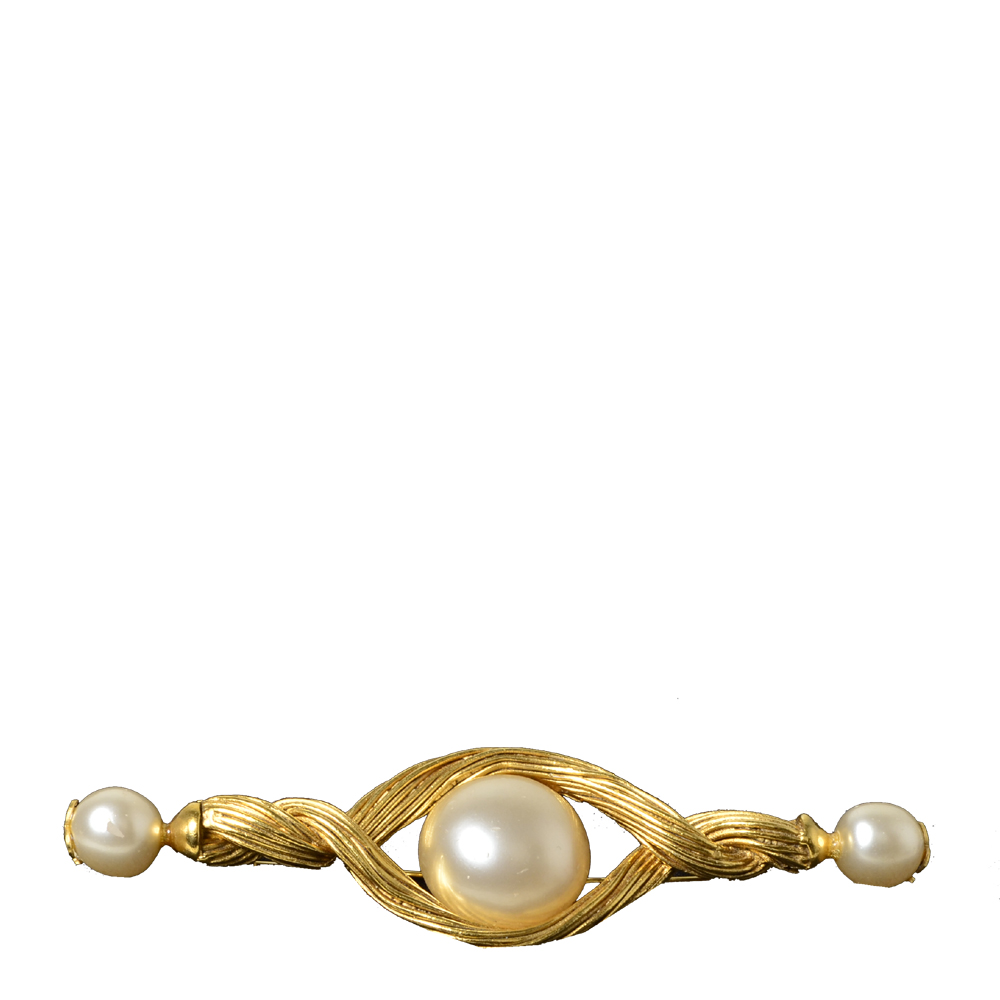 chanel brooch gold pearl 2 Kopie