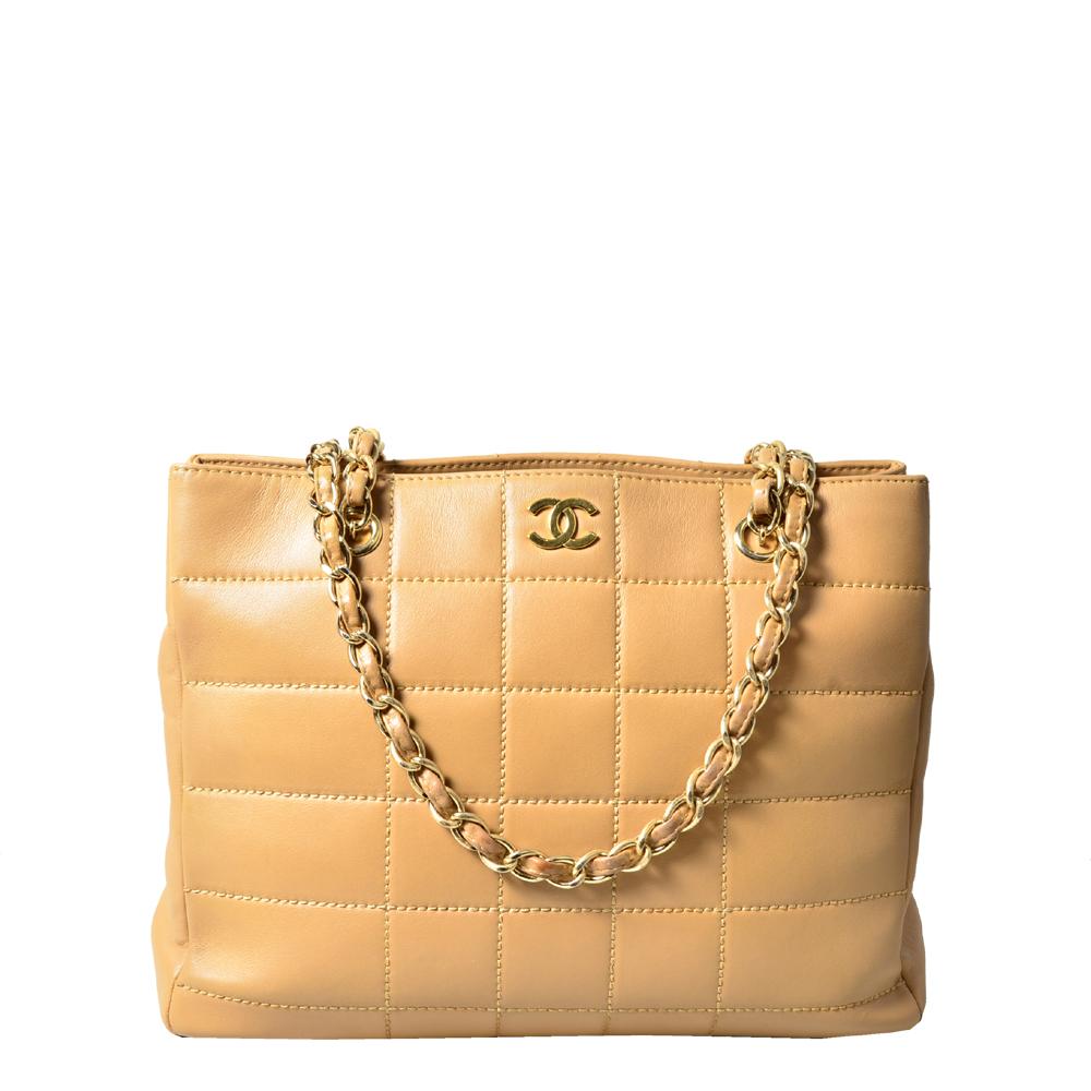 chanel_shoulder bag_nappa_leather_beige_gold vintage_7 Kopie
