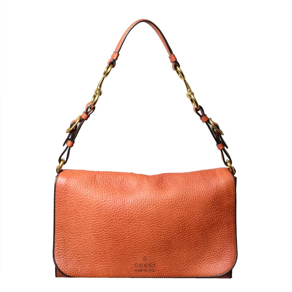 Gucci shoulder bag Harness leather orange_6 Kopie
