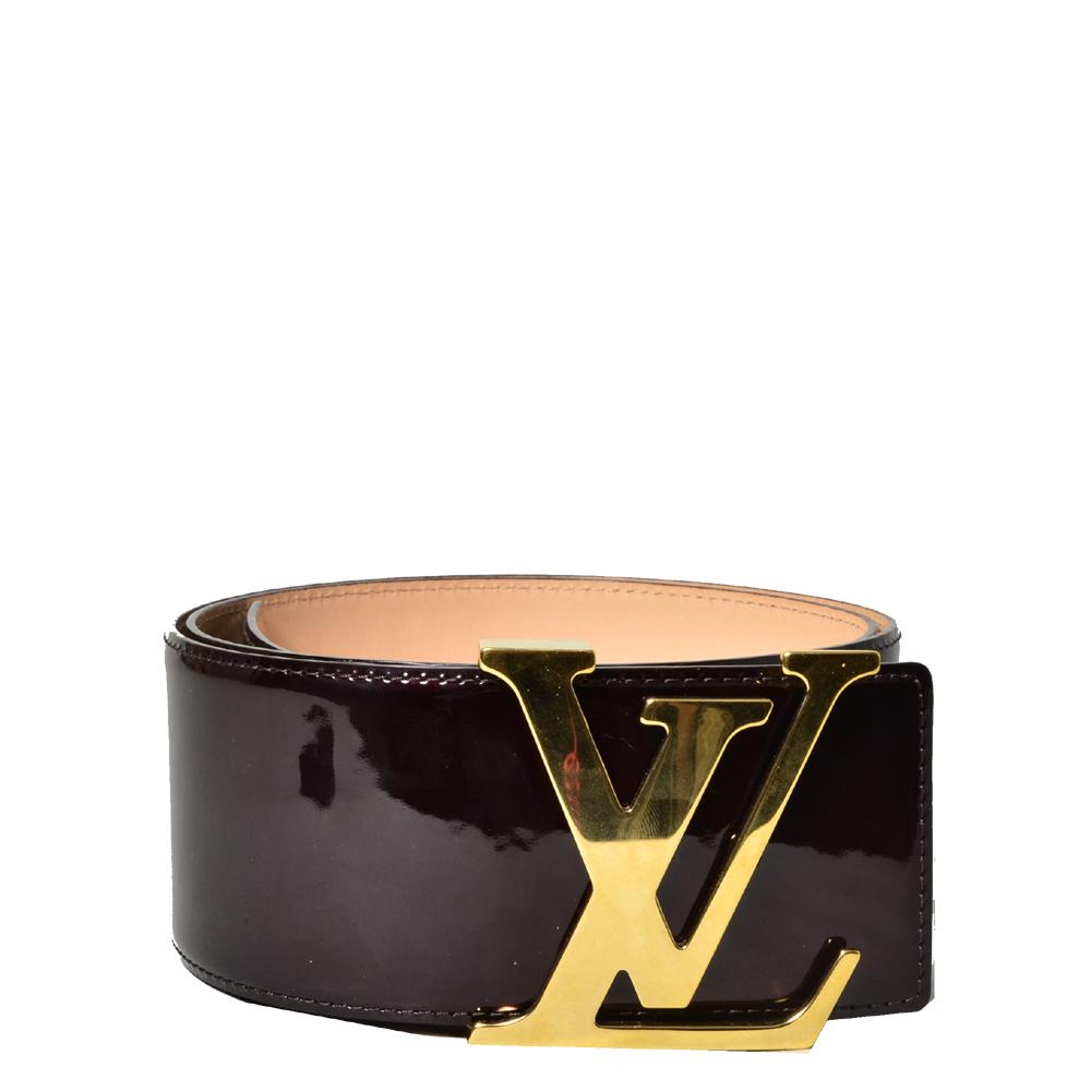 Louis Vuitton LV Initalies vernis bordeaux gold_5 Kopie