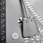 Prada Clutch Marmo+nube Saffiano leather grey black7 Kopie