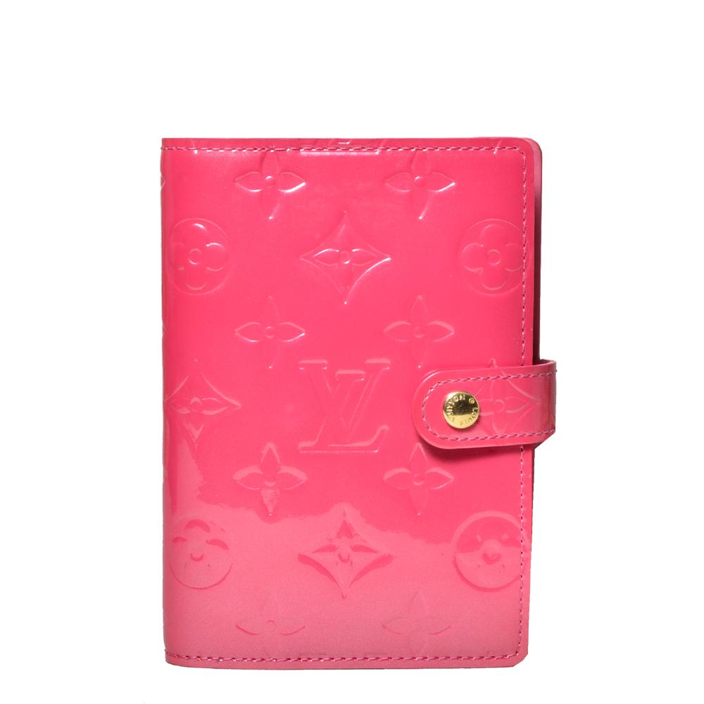 louis vuitton agenda a5 pink vernis Kopie
