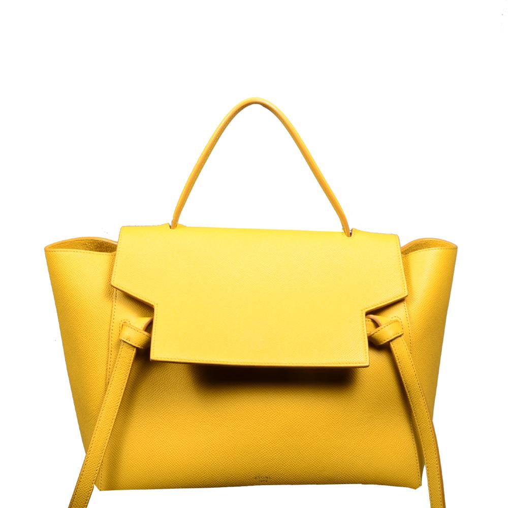 Celine_Handbag_Microbelt_yellow_leather_6 Kopie