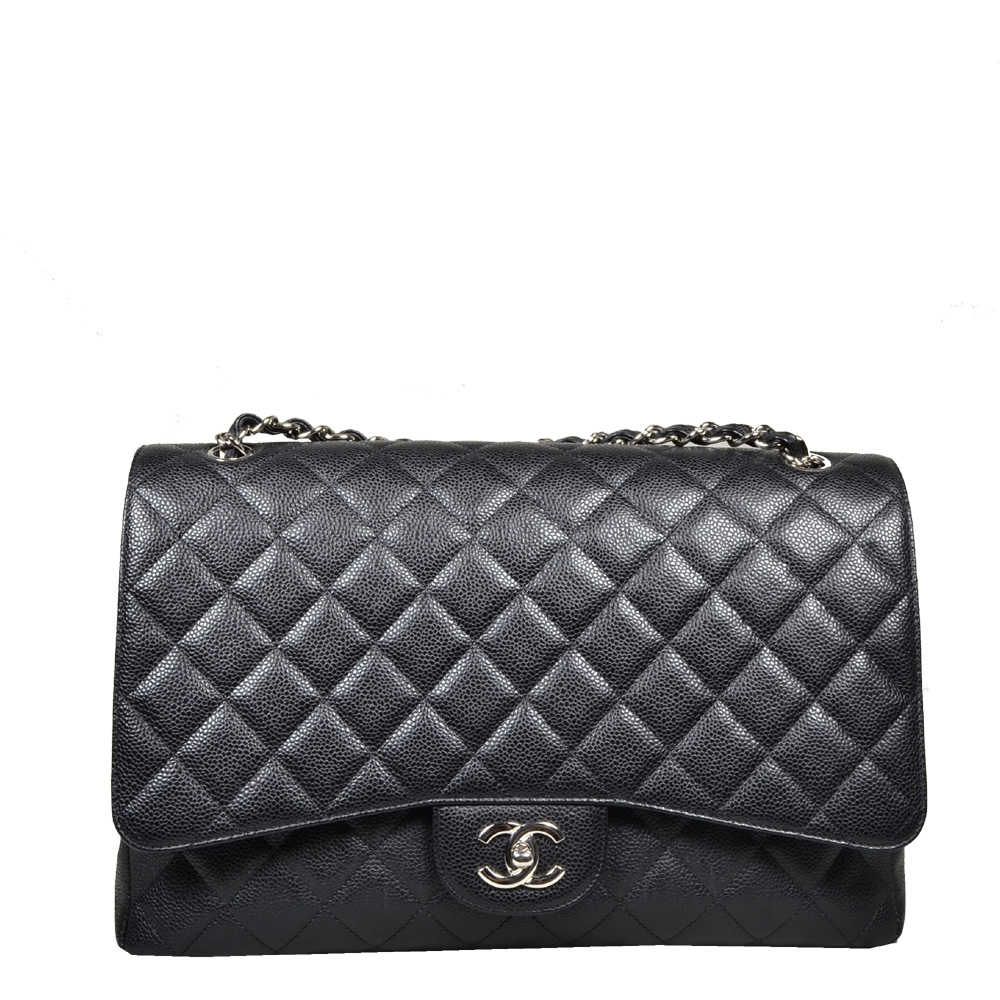 Chanel_Timeless_classic_jumbo_caviar_leather_black_silver_11 Kopie