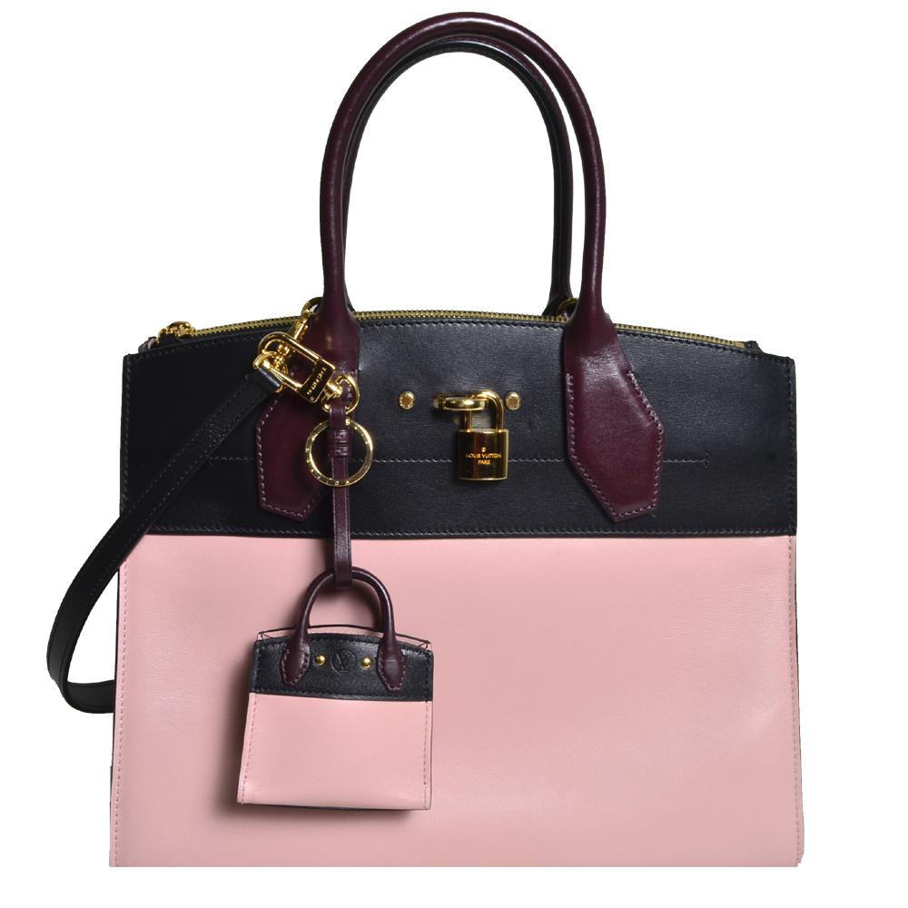 Louis Vuitton City Streamer Taurillon MM Magnolia schwarz burgundy gold Kopie_NEU