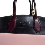 Louis Vuitton City Streamer Taurillon MM Magnolia schwarz burgundy gold7 Kopie