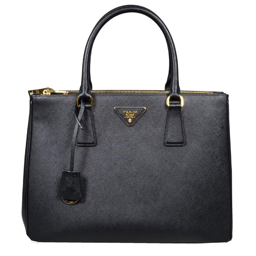 Prada_Galleria_bag_medium_saffiano_leather_black_gold_1 Kopie