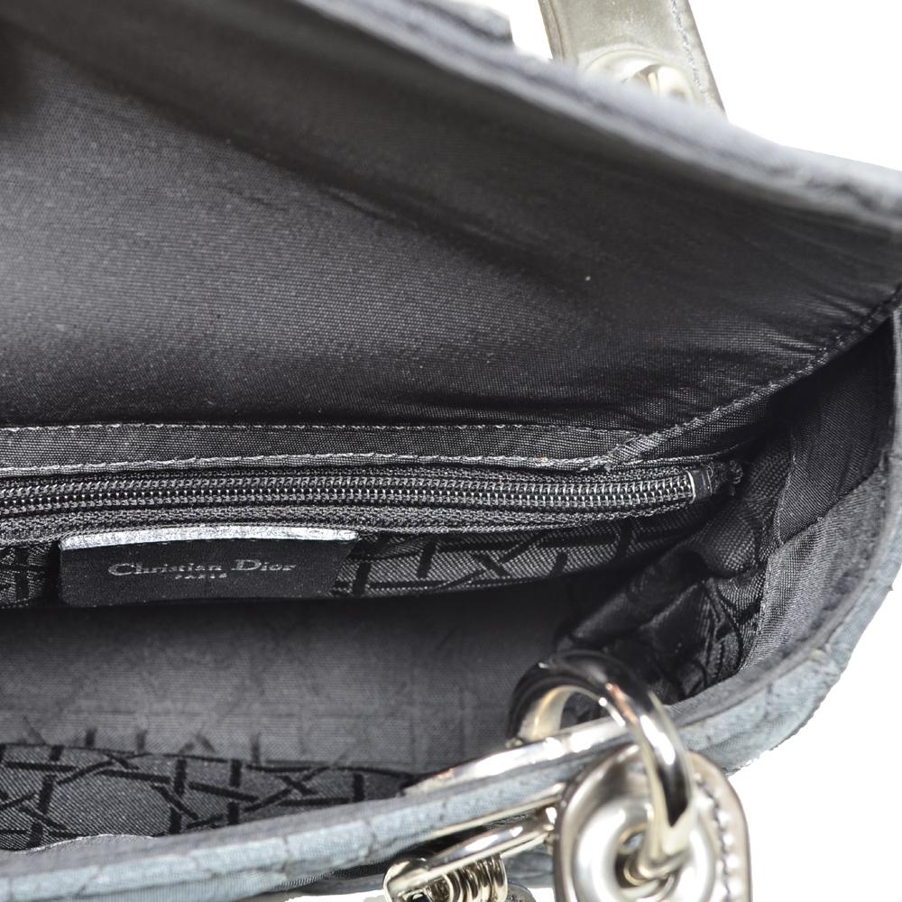 1cadf2334e3a Dior Lady Dior mini nylon grey silver3 Kopie.jpg-