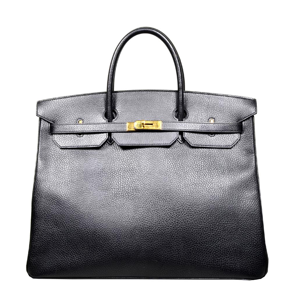 Hermes Birkin 35 black gold Hardware Clemence leather_6 Kopie