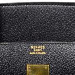 Hermes Birkin 35 black gold Hardware Clemence leather_7 Kopie
